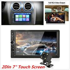 """2 Din 7"""" Car MP5 Player Bluetooth Stereo Radio FM AUX Head Unit W/Rear Camera"""