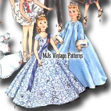 "Sweet Sue Jill Vtg Doll Clothes Pattern Wedding Dress 15/"" Miss Revlon Toni"