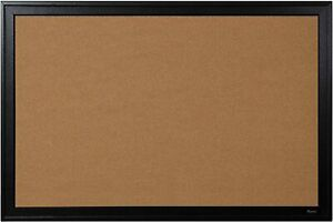 "Quartet Cork Bulletin Board Black Frame Mounting Instructions 24"" x 36"" 13769"