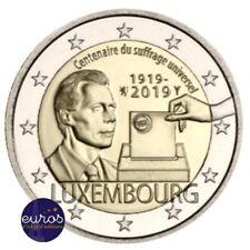 2 euros commémorative LUXEMBOURG 2019 - Centenaire du Droit de Vote - UNC