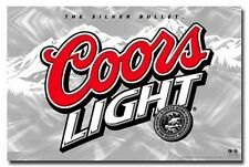 COORS LIGHT LOGO POSTER The Silver Bullet RARE 24X36