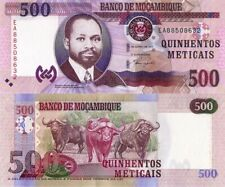 """MOZAMBIQUE 500 Meticais, 2011, UNC, EA Prefix """"Wild Water Buffalo"""""""