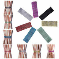 Pair (x2) Of Diamante Crystal Tie Backs-Tiebacks Holdbacks Curtains & Voiles New