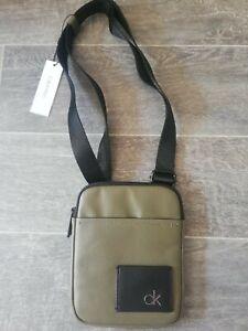 CALVIN KLEIN BNWT Mini Flat Direct Small Ivy Green Shoulder Cross Body Bag