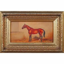 FTN030-ANI055-2, Niagara Furniture, Stabled Horse Oil Painting, Oil Painting
