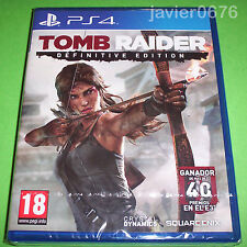 TOMB RAIDER DEFINITIVE EDITION NUEVO Y PRECINTADO PAL ESPAÑA PLAYSTATION 4
