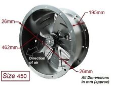 """Industrial Commercial Cased Axial Extractor Duct Fan 450mm (18"""") New"""