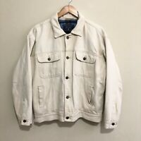 Just Jeans Trucker Jacket Vintage 90's Flannel Lining Mens Small