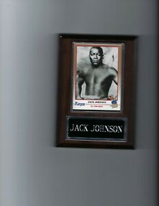 JACK JOHNSON PLAQUE BOXING CHAMPION   C