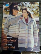 Bonanza Sale! Rare Knitting Pattern Book: Cozy Knits By Patons