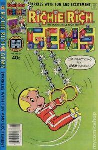 Richie Rich Gems #29 VG 1980 Stock Image Low Grade