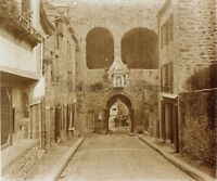 La Porta Del Léhon Dinan Francia Placca N11 Stereo Vintage Positivo 6x13cm
