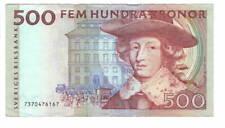 More details for sweden 500 kronor axf net banknote 1997 p59b urban bäckström signature prefix 73