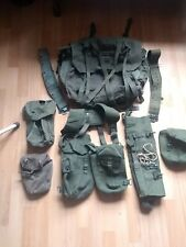 Old british army rucksack Back Pack Green Patrol Short back and content's