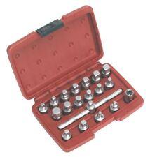 Sealey ak6586 BOUCHON VIDANGE HUILE Jeu de clés 19 pièces 1cmsq SQ moteur