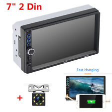 7inch HD 2 DIN Car MP5 Player Bluetooth FM Stereo Audio Radio Player+Rear Camera
