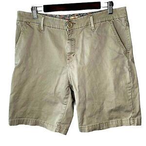 Levis Tab Twills Tan Stretch Shorts Size 14 Measures 35 X 9