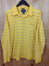 Abercrombie & Fitch Muscle Mens Polo Collar Shirt Long Sleeve size XL (13A5)