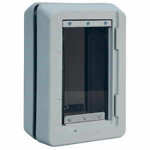 """Ideal Pet Products Ruff-Weather Pet Door Small Grey 5.56"""" x 9.06"""" x 13.37"""""""