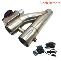 """Patented 3"""" 76mm Electric Exhaust Downpipe Cutout E-Cut Out Dual-Valve Remote"""