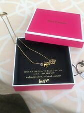 Juicy Couture Jewelry Elephant Love Luck & Couture Necklace Original Box