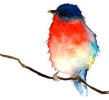 Beautiful Birds Watercolour art Painitng 100% Canvas Print wall home Decor