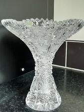 Vintage Bohemia Crystal Posy Vase Queen Lace Pattern