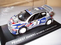 RPT2M voiture 1/43 IXO Rallye PORTUGAL : PEUGEOT 206 WRC Campos/Magahaes 2002 #3