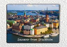 SOUVENIR FROM STOCKHOLM FRIDGE MAGNET -jme3Z