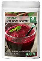Organic Beet Root Powder 1lb Raw & Non-GMO Nitric Oxide Booster Increases Energy