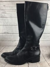 Via Spiga Women's Riding BootBlack Leather Size US 9 M
