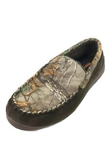 Realtree Suede Slip-On Beige Loafer Camo House Shoes Men's (Size: 9.5-10.5)