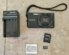 SONY DSC-W830 DIGITAL CAMERA 20.1MP | BLACK W/ CHARGER, ORIGINAL BATTERY 8GIG SD