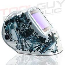 "TGR Extra Large View Auto Darkening Welding Helmet - MECHANICA - 4""W x 3.65""H"