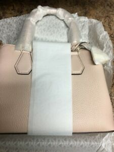 Michael Kors camille small pebbled leather satchel-soft pink BRAND NEW