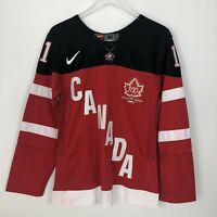 Nike NHL IIHF 2014 100 Year Canada Red Embroidered Hockey Jersey Smithy Size M