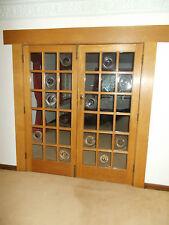 RECLAIMED OAK FRENCH DOUBLE  DOORS WOODEN INTERNAL DOOR