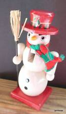 "Wood Nutcracker Snowman 7"" Boxed Handcrafted Horizons East"