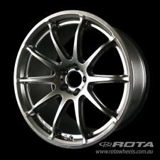 "18"" ROTA T2R 5/100 +38 Black WHEELS RIMS AUDI, SUBARU, TOYOTA, LEXUS CT, VW"