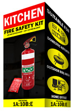 Fire Extinguisher Home Kit 1kg ABE Fire Extinguisher & 1x1 Mtr Fire Blanket