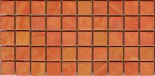 50pcs N24 Pumpkin Natura Opaque Glass Mosaic Tiles 15mmx15mmx4mm Paper faced