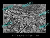 OLD LARGE HISTORIC PHOTO OF ROSS ON WYE ENGLAND AERIAL VIEW OF THE TOWN c1920 1