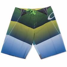 Oakley Blade Mach 1 Green Yellow Size 34 L Mens Swim Boardshorts