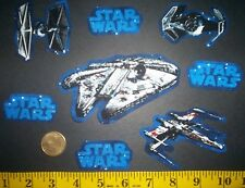 New! Cool! Star Wars IRON-ONS FABRIC APPLIQUES IRON-ONS