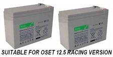 "2 x 12V 10Ah ""alto tasso"" BATTERIE Oset Ragno 12,5 RACING ELECTRIC sperimentazioni BICI"