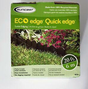"Suncast ECO Edge Quick Edge 20ft long  40-6"" pieces In Box - New In Box"