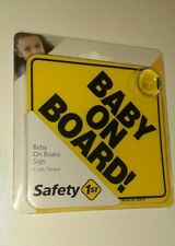 Baby On Board Car Sign Safety 1st. Baby On Board.