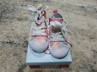 Cat & Jack Toddler Girl Shoes Size 5 High Tops Tie-dye Sneaker EUC LNC