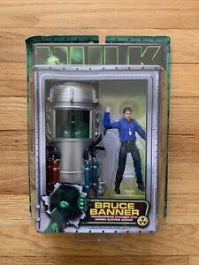 2003 Toy Biz Action Figure Hulk Marvel Legends BRUCE BANNER TRASFORMING CHAMBER