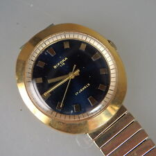 Zeittypische Design Herrenarmbanduhr Bifora 115 um/ab 1970 (50703)